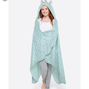 Justice Bedding - Justice Unicorn Mint Kids Hooded Blanket
